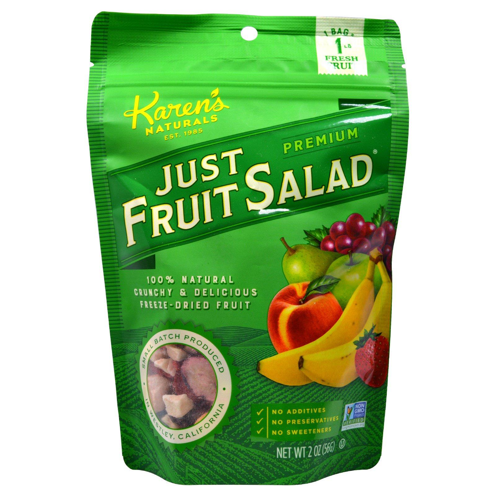 Karen's Naturals, Просто фруктовый салат, Премиум, 2 унции (56 г)