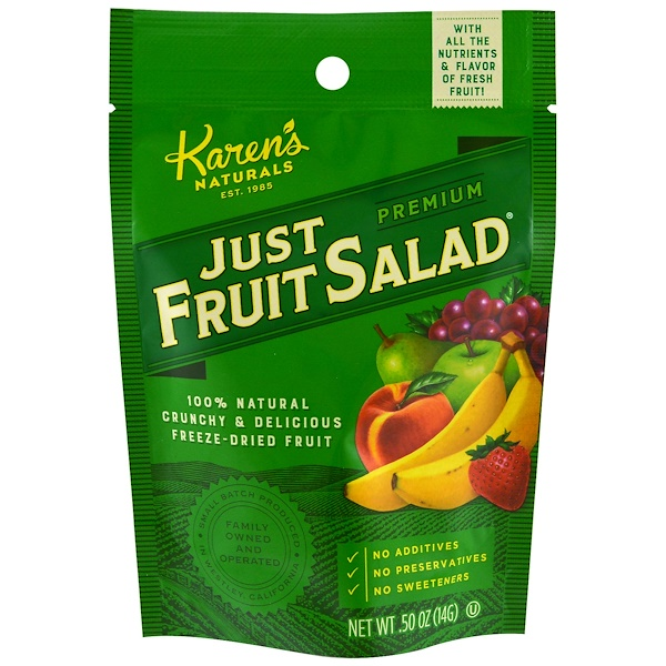 Karen's Naturals, Premium, Just Fruit Salad, .50 oz (14 g) (Discontinued Item)