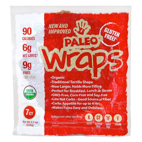Wraps paleolíticos orgánicos, 7 wraps, 7.7 oz (224 g)