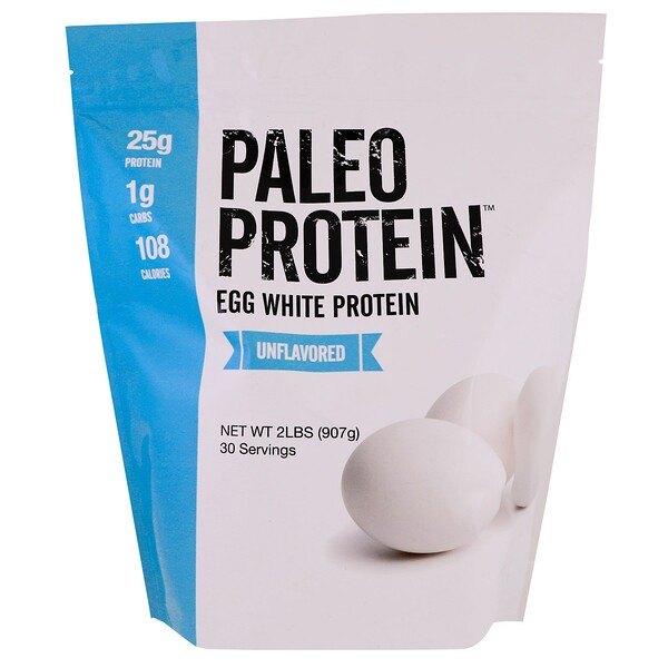 Paleo Protein, Egg White Protein, Unflavored, 2 lbs (907 g)