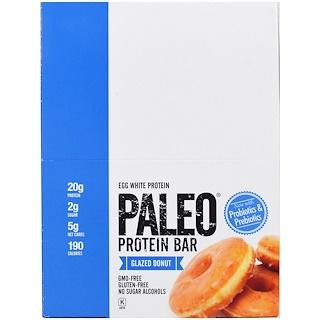 Julian Bakery, Paleo Protein Bar, Glazed Donut, 12 Bars, 2.12 oz (60 g) Each