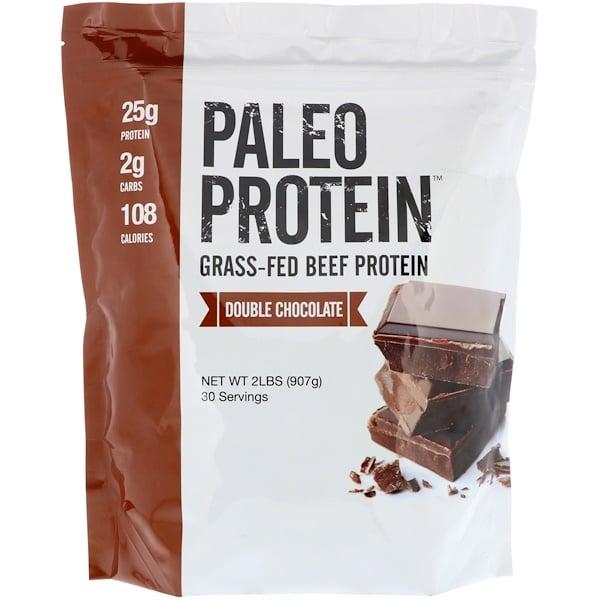 باليو بروتين، بروتين لحم البقر المتغذي على العشب، شوكولاتة مزدوجة، 2 رطل (907 جم)
