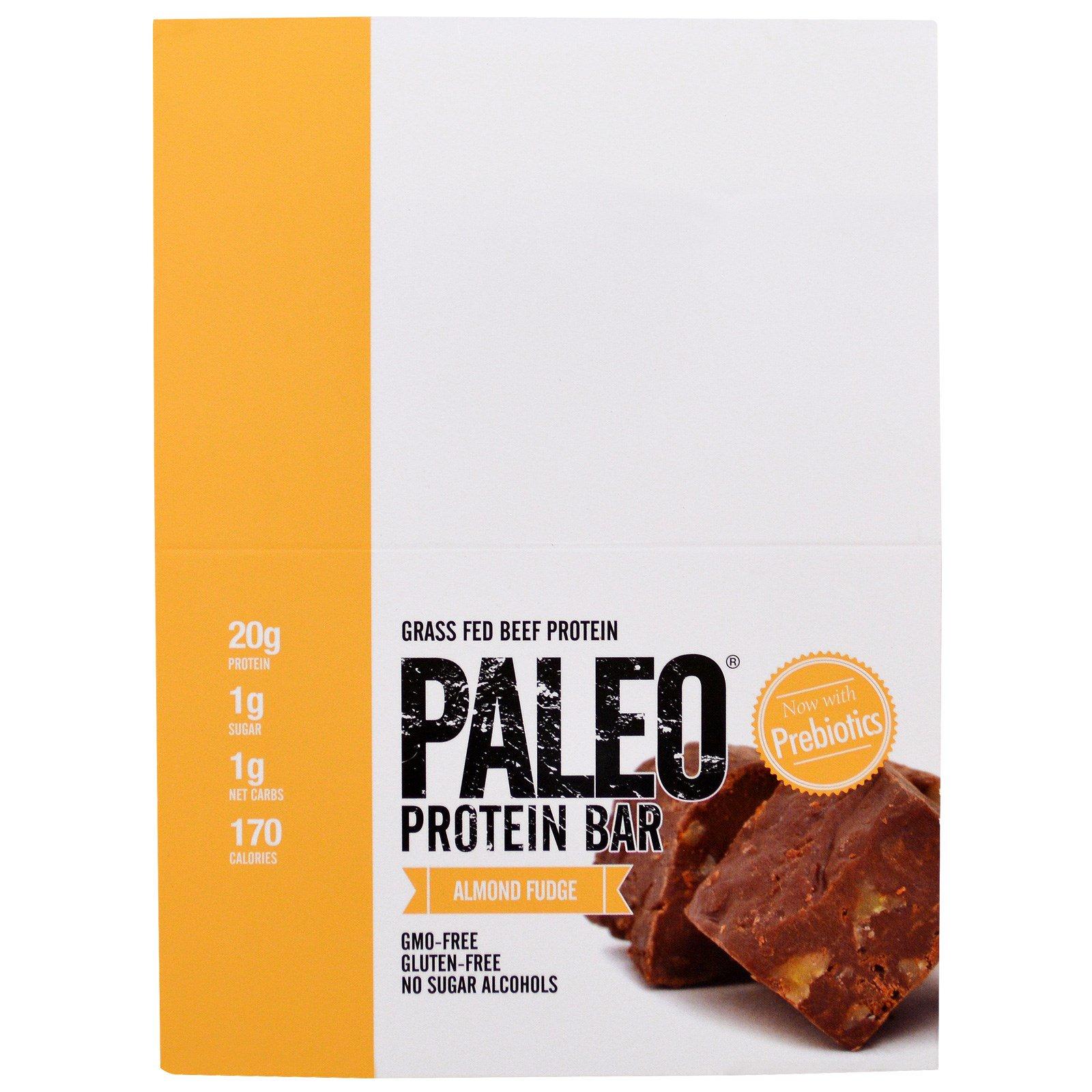 Julian Bakery, Белковый батончик Paleo, миндальный фадж, 12 батончиков, 2 унц. (56,3 г) каждый