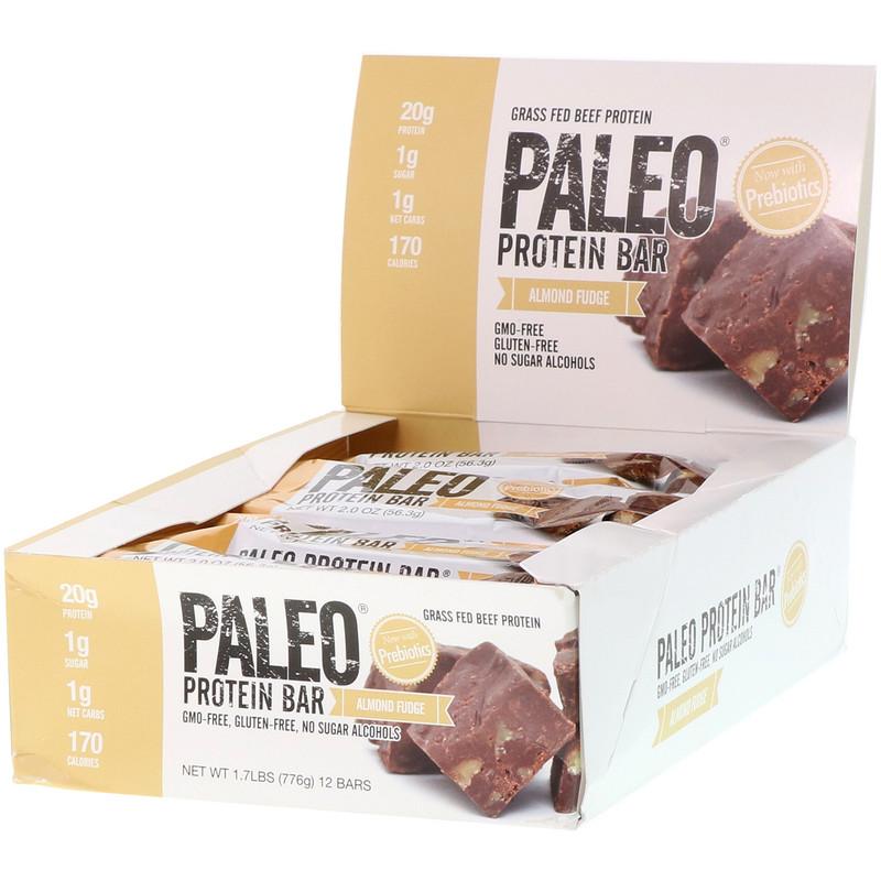 Paleo Protein Bar, Almond Fudge , 12 Bars, 2.0 oz (56.3 g) Each