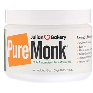 Де Джулиан Бэйкари, Pure Monk Fruit, 3.5 oz (100 g) отзывы