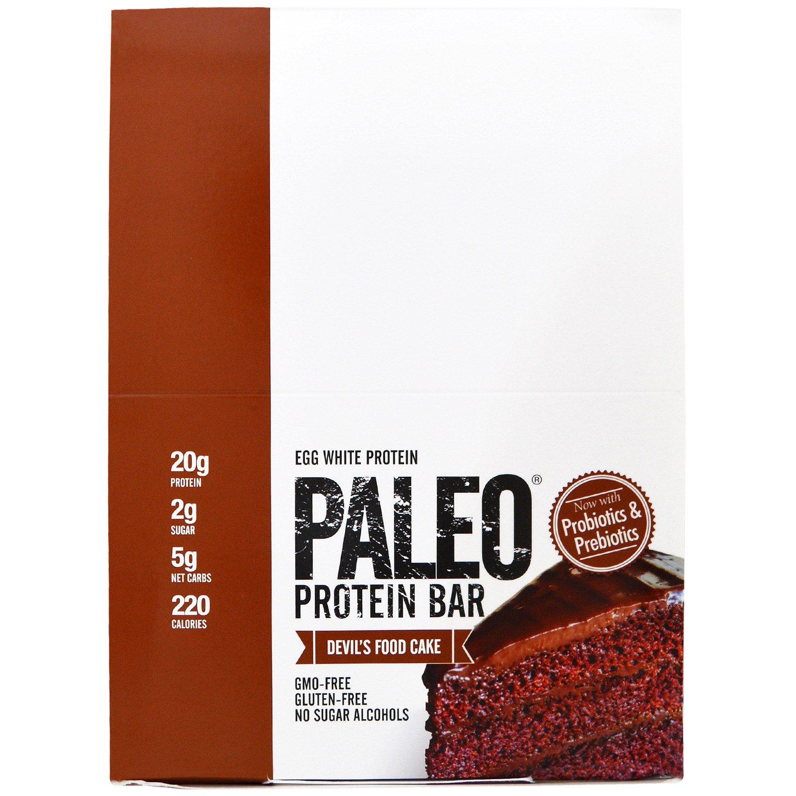 Julian Bakery, Протеиновые батончики палео, Шоколадный торт, 12 батончиков, 2,22 унции (63,1 г) каждый