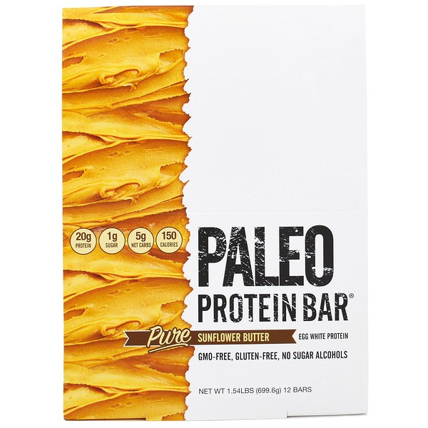 Julian Bakery, Paleo Protein Bar, Pure Sunflower Butter , 12 Bars, 2.05 oz (58.3 g) Each