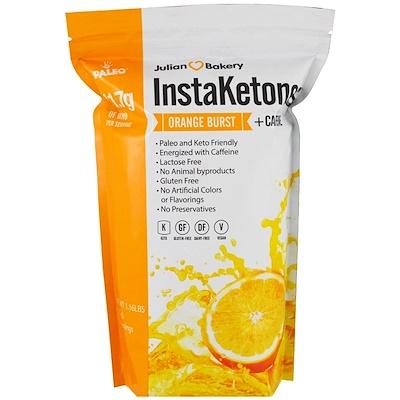 InstaKetones, Апельсиновый взрыв + кофеин, 1,16 фунтов (525 г)