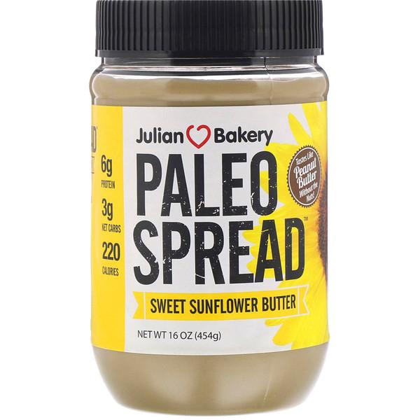 Julian Bakery, Paleo Spread, Sweet Sunflower Butter, 16 oz (454 g) (Discontinued Item)