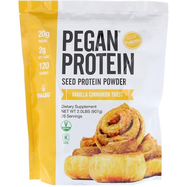Julian Bakery, Pegan Protein, Seed Protein Powder, Vanilla Cinnamon Twist, 2 lbs (907 g) (Discontinued Item)