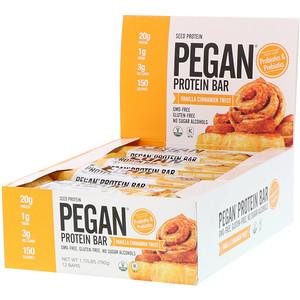 Де Джулиан Бэйкари, PEGAN Protein Bar, Vanilla Cinnamon Twist, 12 Bars, 2.29 oz (65 g) Each отзывы покупателей