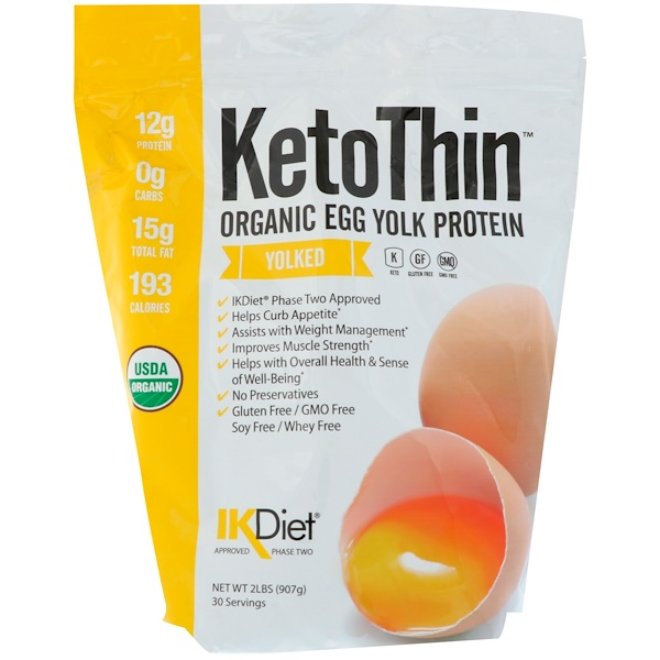 Julian Bakery, Keto Thin, Organic Egg Yolk Protein, Yolked, 2 lbs (907 g) (Discontinued Item)