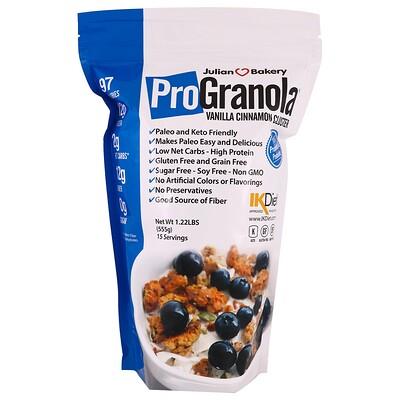 Фото - Pro Granola, ваниль и корица, 1,22 фунта (555 г) n o xplode легендарная предтренировочная добавка голубая малина 555 г 1 22 фунта