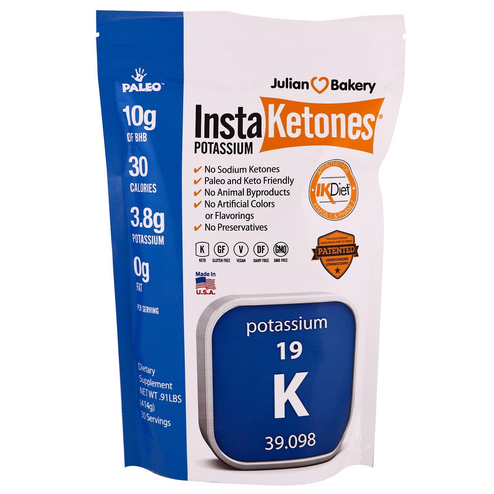 Julian Bakery, Калий InstaKetones, 0,91 фунта (414 г)