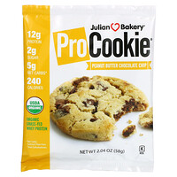 Julian Bakery, Pro Cookie, Peanut Butter Chocolate Chip, 2.04 oz (58 g)