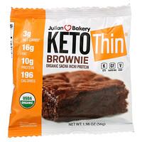 Julian Bakery, Keto Thin Brownie, 1.98 oz (56 g)