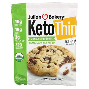 Julian Bakery, Keto Thin Chocolate Chip Cookie, 2.08 oz (59 g)