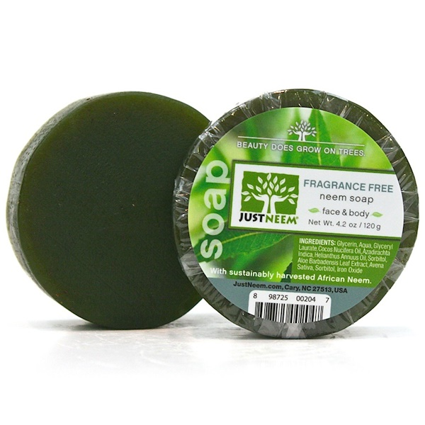 Just Neem, Fragrance Free Neem Soap, 4.2 oz (120 g) (Discontinued Item)