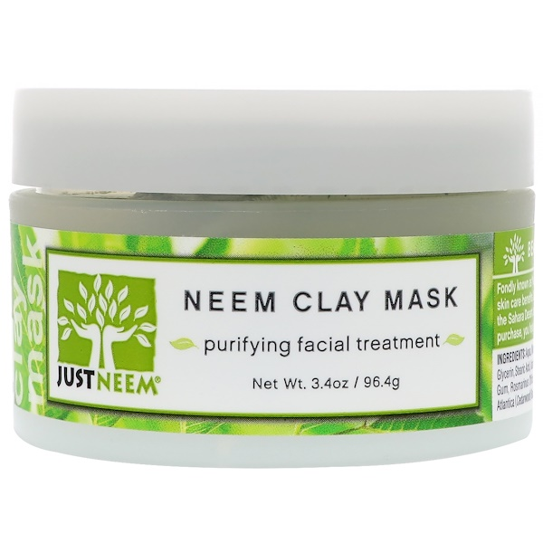 Just Neem, Neem Clay Mask, 3.4 oz (96.4 g)