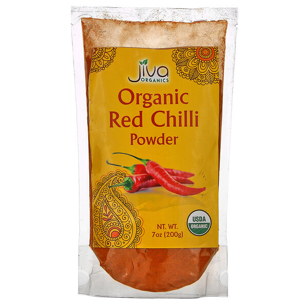 Organic Red Chilli Powder,  7 oz (200 g)