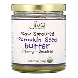 Jiva Organics, 原頭髮生長芽南瓜籽黃油,奶油狀/無鹽,8 盎司(228 克)