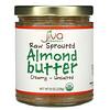 Jiva Organics, Raw Sprouted Almond Butter, Creamy - Unsalted, 8 oz (228 g)