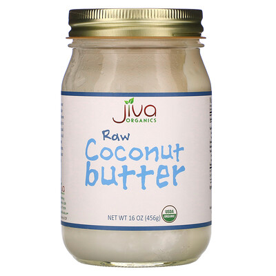 Купить Jiva Organics Raw Coconut Butter, 16 oz (456 g)