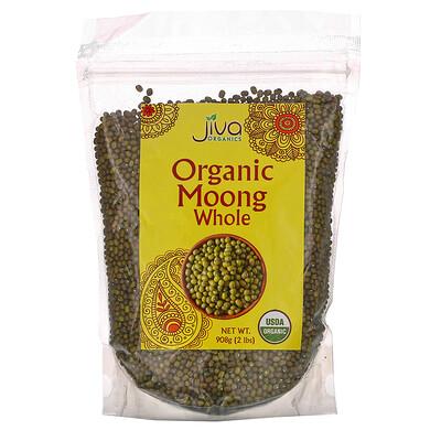 Купить Jiva Organics Organic Moong Whole, 2 lbs (908 g)