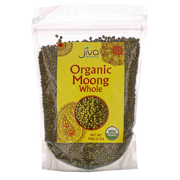 Jiva Organics, Organic Moong Whole, 2 lbs (908 g)