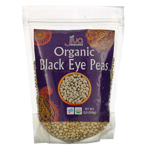 Jiva Organics, Organic Black Eye Peas, 2 lb (908 g)'