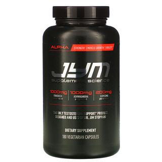 JYM Supplement Science, 阿爾法,睾酮支持,180 粒素食膠囊