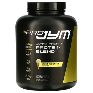 JYM Supplement Science, 上佳蛋白質混合物,大溪地香草豆,4 磅(1828 克)