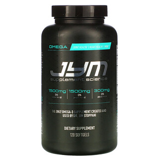 JYM Supplement Science, 歐米伽-3,120 粒軟凝膠
