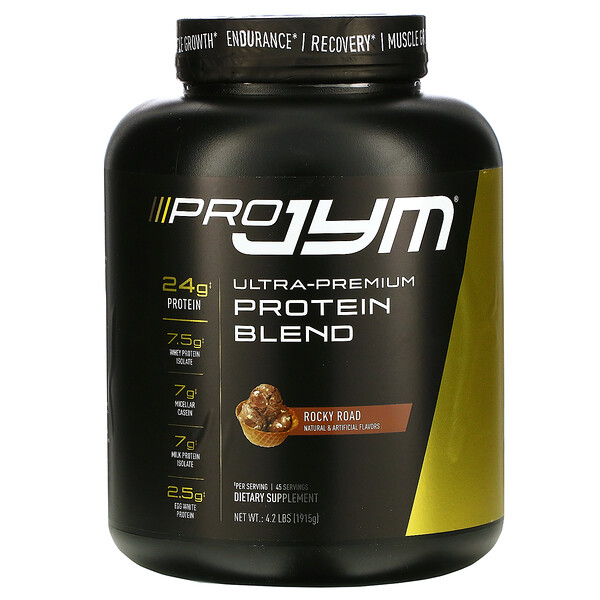 JYM Supplement Science, Ultra-Premium Protein Blend, Rocky Road, 4.2 lb (1915 g)