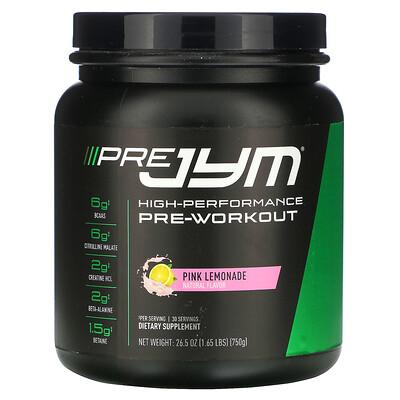JYM Supplement Science High-Performance Pre-Workout, Pink Lemonade, 26.5 oz (750 g)