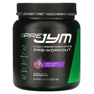 JYM Supplement Science, High-Performance Pre-Workout, Grape Candy, 26.5 oz (750 g) отзывы