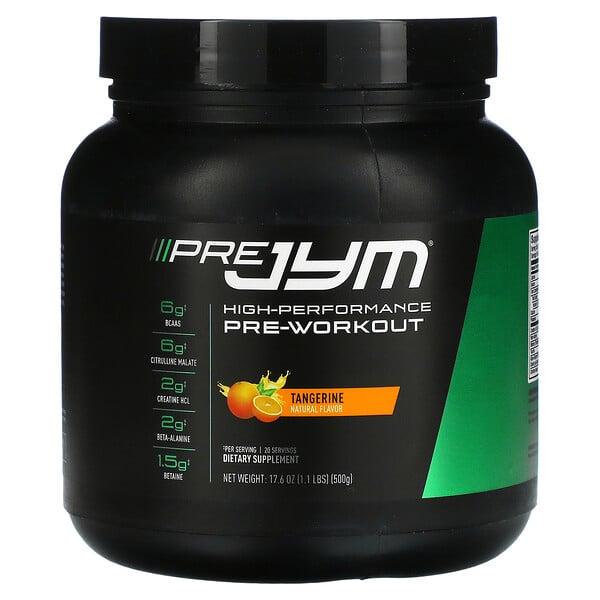 Pre JYM, High Performance Pre-Workout, Tangerine, 1.1 lbs (500 g)