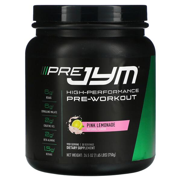 Pre JYM, High-Performance Pre-Workout, Pink Lemonade, 1.65 lbs (750 g)