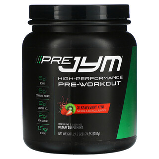 JYM Supplement Science, Pre JYM,高性能氮泵,草莓獼猴桃,1.7 磅(780 克)