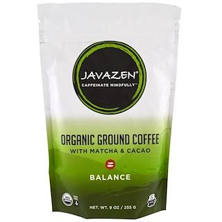 Javazen, Organic Ground Coffee With Matcha & Cacao, Balance, 9 oz (55 g)