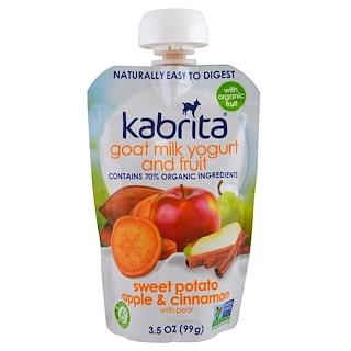 Kabrita, Goat Milk Yogurt and Fruit, Sweet Potato, Apple, Cinnamon, 3.5 oz (99 g)