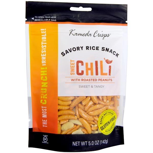 Kameda Crisps, Пикантный рисовый снэк, сладкий перец чили, сладкий и острый, 5,0 унции (142 г) (Discontinued Item)