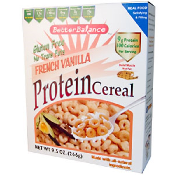 Kay's Naturals, Better Balance, Protein Cereal, French Vanilla, Case of 6, 9.5 oz (266 g) Each (Discontinued Item)