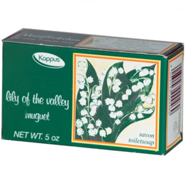 Kappus, Lily of the Valley, Bar Soap, 5 oz (150 g) (Discontinued Item)