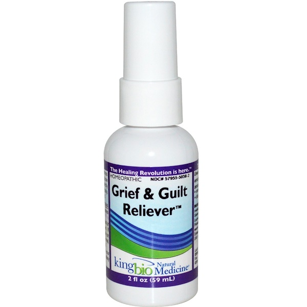King Bio Homeopathic, Grief & Guilt Reliever, 2 fl oz (59 ml) (Discontinued Item)