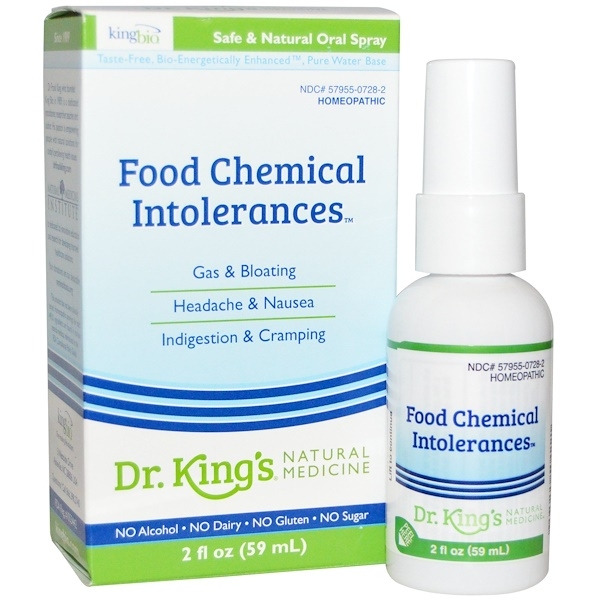 King Bio Homeopathic, Food Chemical Intolerances, 2 fl oz (59 ml) (Discontinued Item)