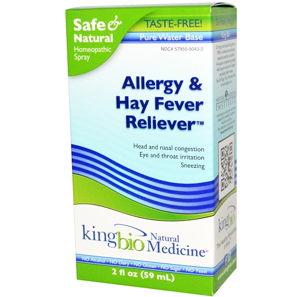 King Bio Homeopathic, Allergy & Hay Fever Reliever, 2 fl oz (59 ml) (Discontinued Item)