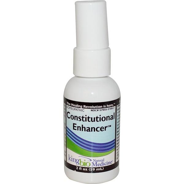 King Bio Homeopathic, Constitutional Enhancer, 2 fl oz (59 ml) (Discontinued Item)