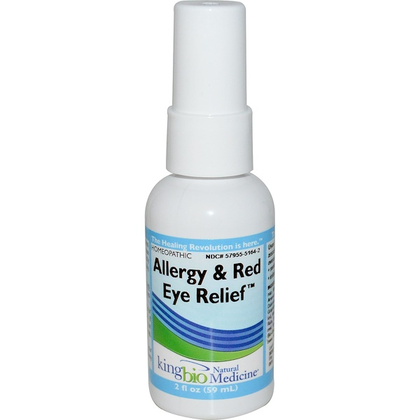 King Bio Homeopathic, Allergy & Red Eye Relief, 2 fl oz (59 ml) (Discontinued Item)