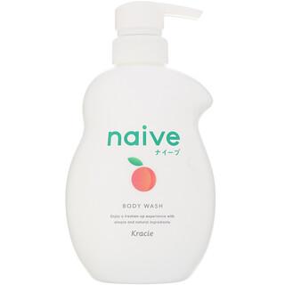 Kracie, Naïve 沐浴露,桃子味,17.9 液量盎司(530 毫升)